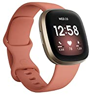 Fitbit Versa 3 Health & Fitness Smartwatch with GPS, 24/7 Heart Rate, Alexa Built-in, 6+ Days Battery, Pin