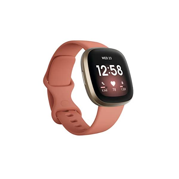 Fitbit Versa 3 Health & Fitness Smartwatch with GPS, 24/7 Heart Rate, Alexa Built-in, 6+ Days Battery, Pink/Gold, One… 1