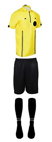 - New! 2018 Pro Soccer Referee Package (3 Piece with 2 Stripe Socks) (Yellow, AL (Chest 44-46