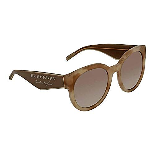 Burberry Women's BE4260 Sunglasses Beige Havana/Gradient Brown Mirror Silver - Havana Beige Sunglasses