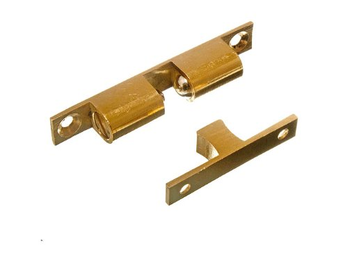 200 X Adjustable Double Sprung Ball Catch Latch Brass 70Mm + Screws