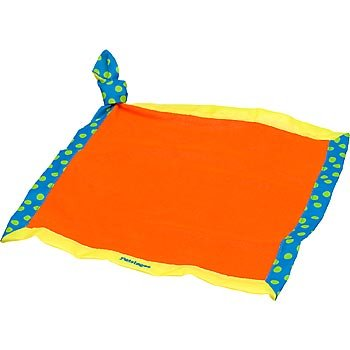 Petstages Doggy Security Blanket Red Yellow and Blue Dog Soothing Toy, My Pet Supplies