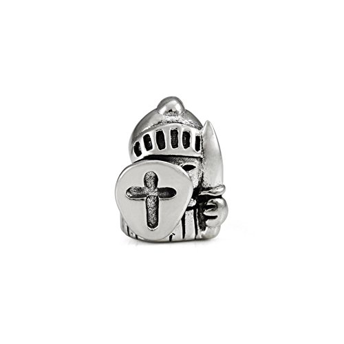 Ohm Beads Sterling Silver Knight Bead Charm -