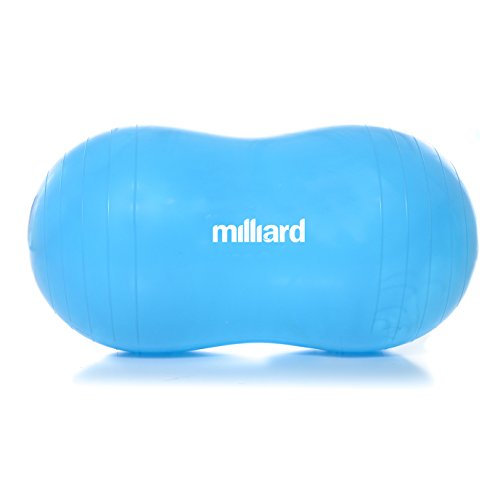 Milliard Anti-Burst Peanut Ball Approximately 31x15 in. (80x40cm) Physio Roll for Exercise