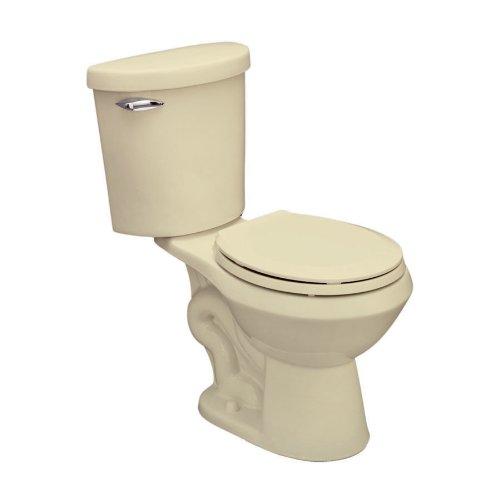 "Jacuzzi EZ33-958 1.6-Gpf Perfecta Round Standard Height Floor Outlet Toilet (2-Piece), Almond, 12"" -  EZ33958"