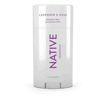 Native Deodorant - Natural Deodorant - Vegan, Gluten Free, Cruelty Free - Free of Aluminum, Parabens & Sulfates - Born in the USA - Lavender & Rose from Native
