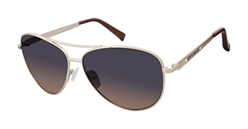 Rocawear Women's R685 Rgd Aviator Sunglasses, Rose Gold, 62 mm