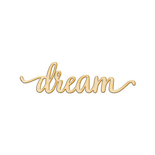 "Woodums Dream Script Wood Sign Home Décor Wall Art for Kids Nursery or Child's Bedroom - Unfinished 18"" x 5"""