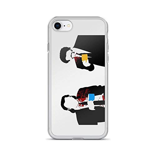 iPhone 7 Case iPhone 8 Case Clear Anti-Scratch Gourmet, Pulp Fiction Cover Phone Cases for iPhone 7/iPhone 8, Crystal Clear -