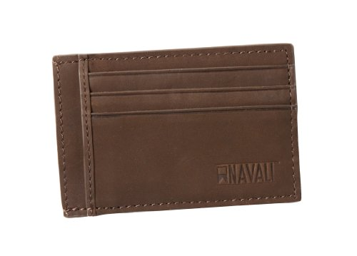 Navali 4.75″ Steward Card Case Wallet – Chocolate, Bags Central