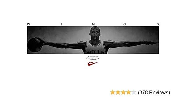 fd7d12bf648 Amazon.com: (72x23) Michael Jordan (Wings Door) Sports Poster Print : Home  & Kitchen