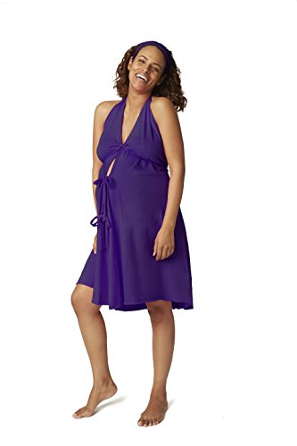 Pretty Pushers Cotton Jersey Labor Gown One Size (2-16 pre-pregnancy) Plum