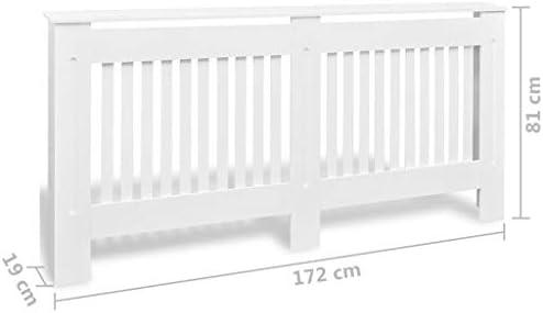 Vislone Heizk/örperverkleidung MDF mit Mattem Finish Heizk/örper Abdeckung wei/ß 112 x 19 x 81 cm
