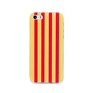 LIMME Coway Line Printing Transparent Edge Plastic Back Case for iPhone 5/5S