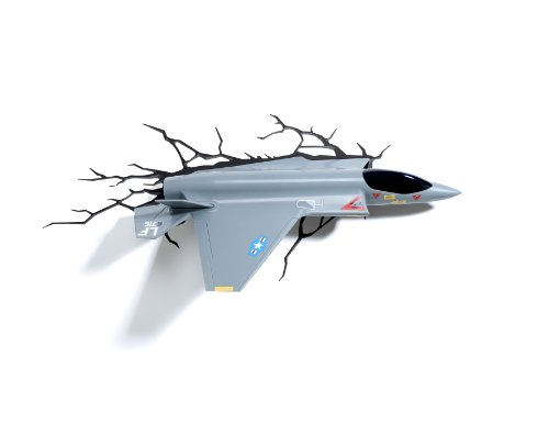 Fighter Jet 3D Wall Deco Night Light (Deco Jet)