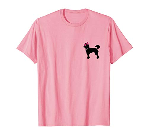 50's Posh Poodle T-Shirt with Pearls, Bows and Diamonds