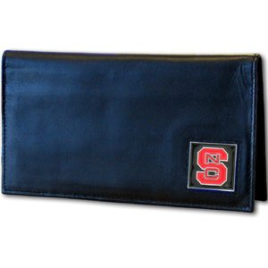 Siskiyou NCAA North Carolina State Wolfpack Leather Checkbook Cover - Nc State Wolfpack Money Clip
