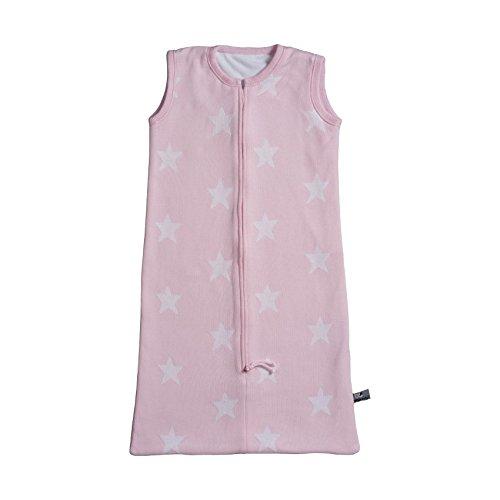 Baby 's Only Sterne Luxus Strickpullover Baby Schlafsack helles Pink mit Weiß & Soft Fleece-Futter
