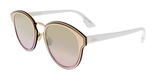 Christian Dior Nightfall 24S Gold White Nightfall Round Sunglasses Lens Categor (Christian Dior Gold)