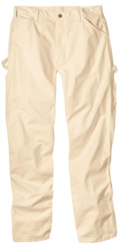 Dickies Men's Relaxed-Fit Painter's Utility Pant, Natural, 33W x 32L (Relaxed Fit Utility Pant)