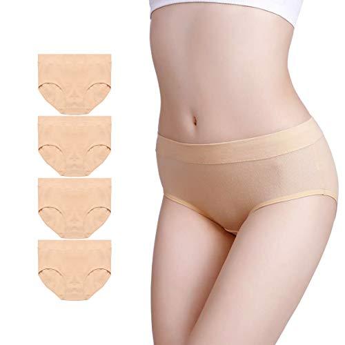 Envlon Womens Cotton Underwear, Soft Comfortable Breathable Stretchy Underpants Ladies Panties Briefs Multipack (Best Deals Underwear Ladies)