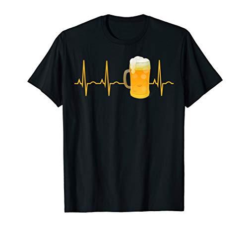 Beer Lover Gift Shirt Beer Heartbeat T-Shirt for Men & Women