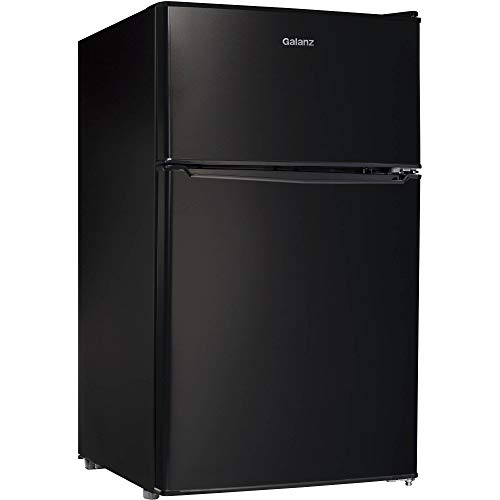 2 Door Dorm Size Refrigerator Black + Free Cleaning Kitchen Cloth