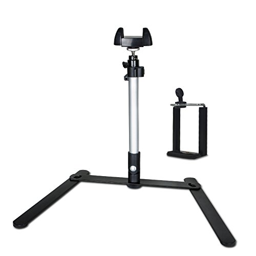 LS Photography Copy Stand, Rotatable Table Top Monopod with 360 Degree Swivel Ball Head Mount with Cell Phone Holder for Smart Phones, LGG720 by LS Photography