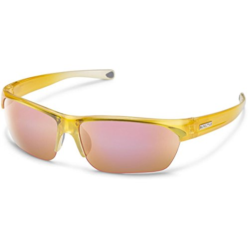 Suncloud Detour Polarized Sunglasses, Yellow Fade Frame, Pink Lens