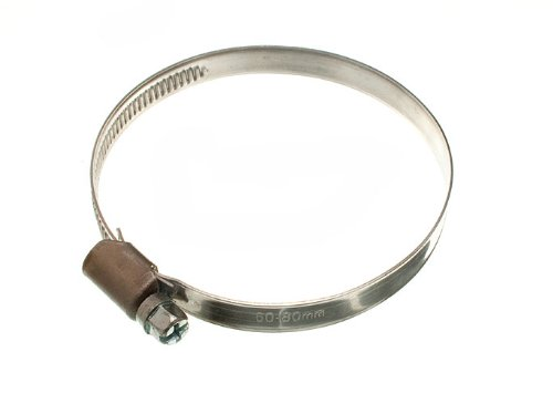 HOSE CLAMP JUBILEE CLIP 60MM - 80MM SS STAINLESS STEEL ( pack of 200 ) by ONESTOPDIY
