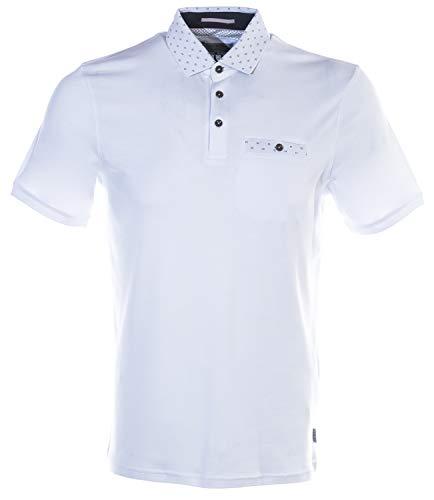 Ted Baker Men's Critter Short Sleeve Flat Knit Polo Shirt White 3