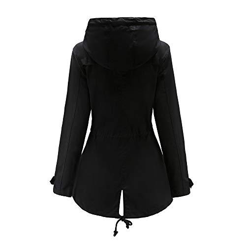 Fit Inverno Vicgrey Eleganti Autunno Lungo Ragazze Cappotto Moda Slim Cardigan Parka ❤ Puro Giacca Donna Outwear Gilet Da Nero Colore qwTI8SUqr