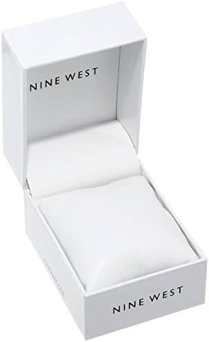 Nine West Women's NW/1663SVSB Silver-Tone Bracelet Watch 4