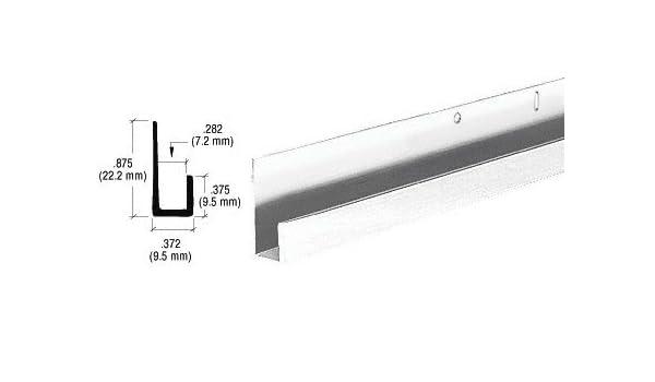 """Polished 1//4/"""" Standard Aluminum /""""J/"""" Channel"""