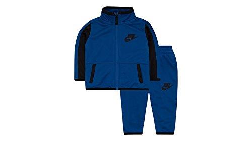 Nike Little Boys' Futura Tricot Jacket and Pants Set (6, Blue/Black)