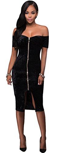 Kleid schwarz reibverschluss vorne