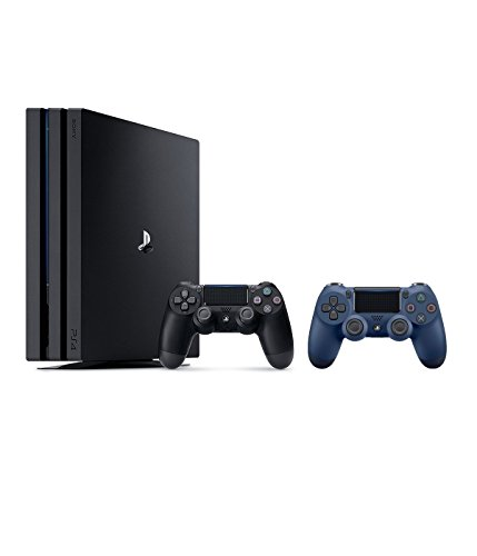PlayStation 4 Pro 1TB 4K HDR Gaming Console with Extra Midnight Blue Dualshock4 Wireless Controller Bundle