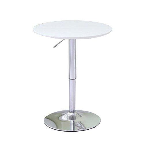 LHA Mesa de Comedor de Cocina Mesa de Centro Redonda Blanco Ocio Moderno Mesa de te de Madera Mesa de Pedestal para conferencias de la Oficina, Blanco Crema Ta