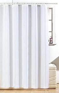 Stunning Diamante Shower Curtain White With Rings