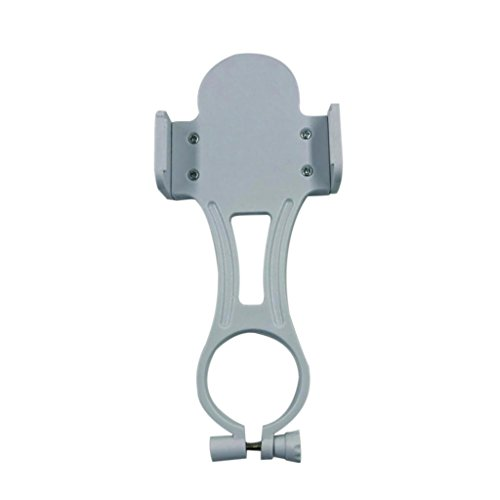 Universal Karaoke Cell Phone Clip Holder Handheld Wireless Microphones Mic Stand for iPhone Samsung White