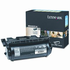 Lexmark X644h11a High-Yield Laser Printer Toner 21000 Page-Yield Black