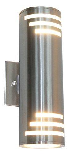 13 Wall Bracket Light Outdoor (Artcraft Lighting Nuevo Outdoor Wall Mount, Stainless Steel)