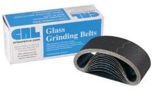 "CRL 3"" x 18"" 60 Grit Glass Grinding Belts for Portable Sanders - 10/Box - CRL3X1860X"