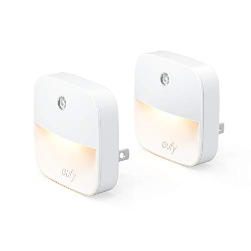 Energy Scent - eufy Lumi Plug-in Night Light, Warm White LED Nightlight, Dusk-to-Dawn Sensor, Bedroom, Bathroom, Kitchen, Hallway, Stairs, Energy Efficient, Compact (2 Pack)