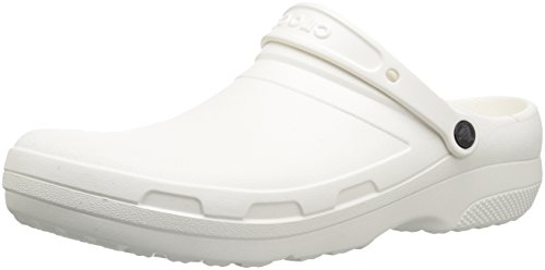 (Crocs Men's and Women's Specialist II Clog, White, 6 US 8 US)