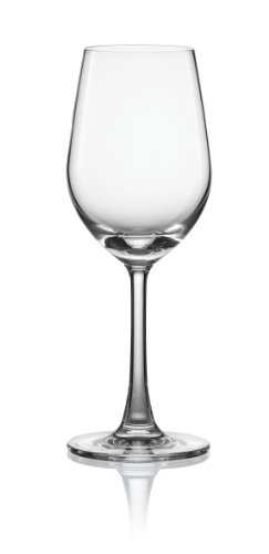 Pure and Simple Sip Riesling Wine Glass, 8.3-Ounce, Set of 4 - Lancaster Colony Clear Glass