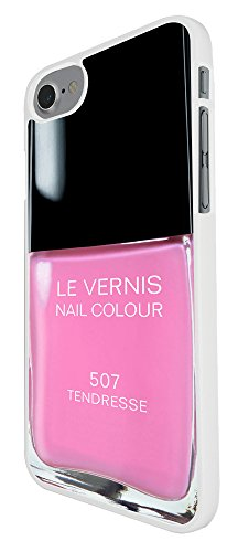 001696 - Designer Nail Polish Pink Design For iphone 8 Plus 5.5 Fashion Trend CASE Back COVER Plastic&Thin Metal - White