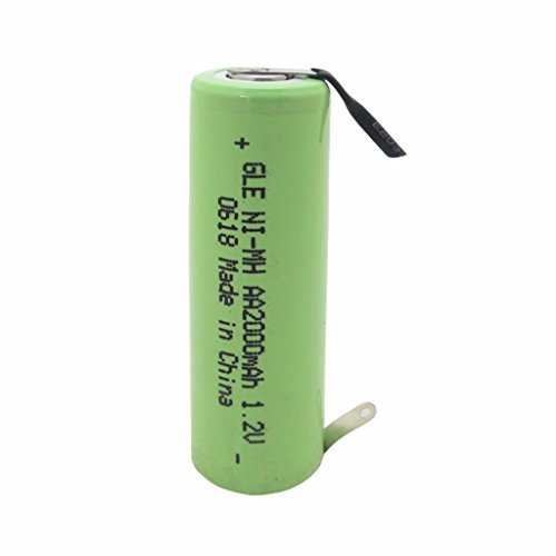 Geilienergy NiMh 1.2V AA 2000mAh Shaver battery with solder tabs for Braun, Norelco, Remington shaver models (Pack Of 1)