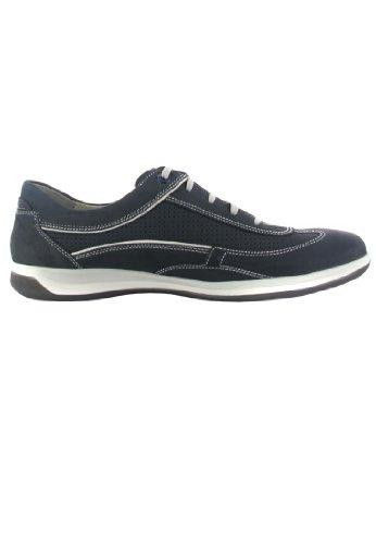 FRETZ men - Zapatos de cordones de cuero nobuck para hombre azul azul