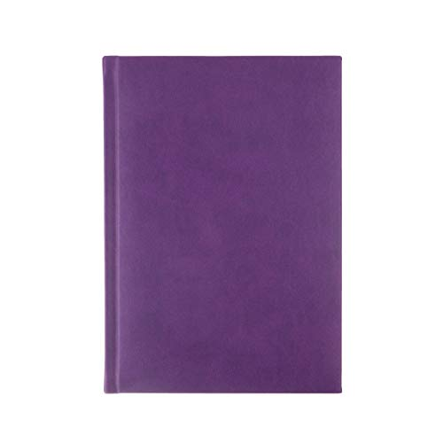 (SYMPHONY Ruled, Padded Executive Hardcover Notebook Journal with Premium Paper, 256 Lined Pages, With Book Mark Ribbons, Lined Pages, Purple Cover, Size 5.75